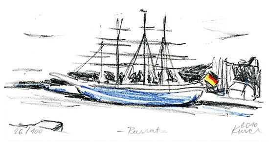 """Bild """"Passat im Hafen"""" (2010), ungerahmt"""