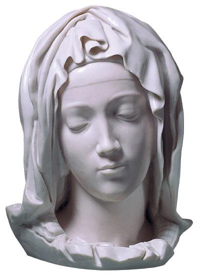 """Kopf der Gottesmutter Maria"", Kunstguss"
