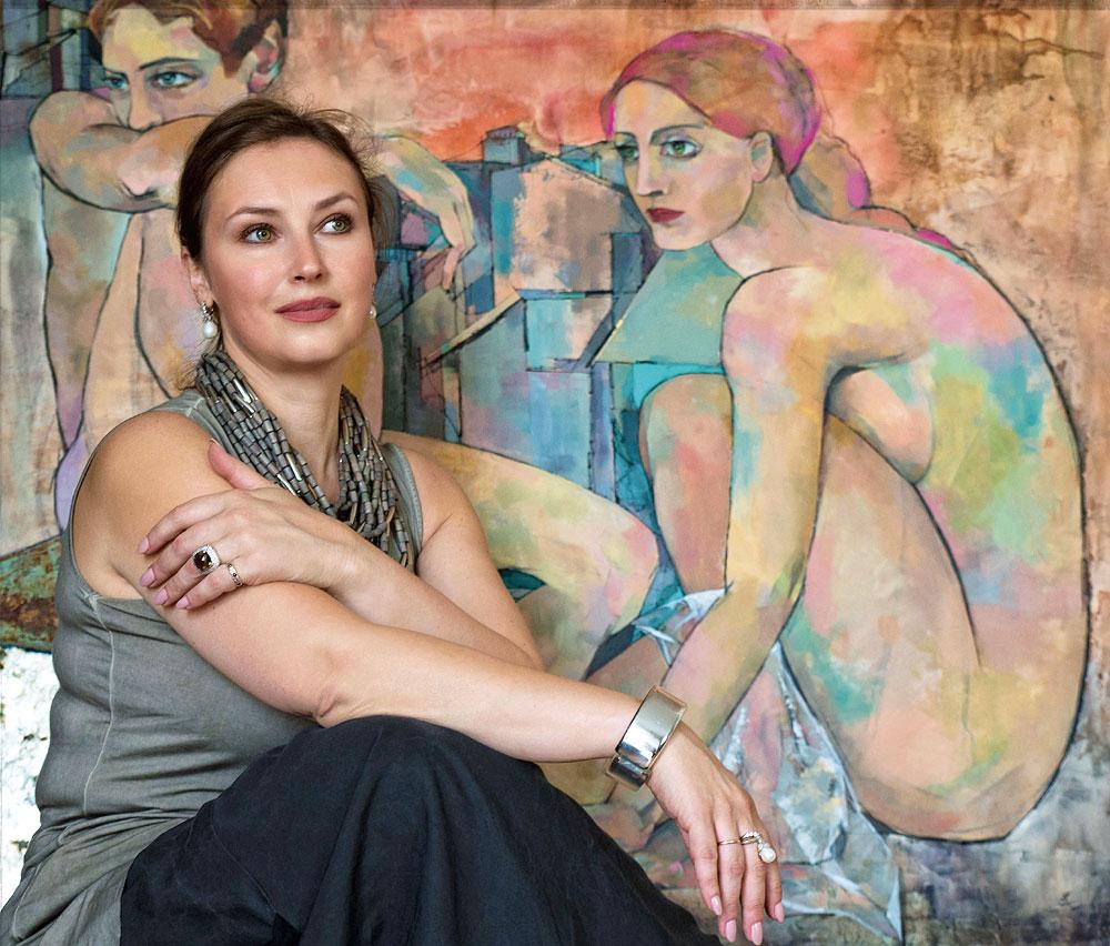 Porträt der Künstlerin Marina Krasnitskaya