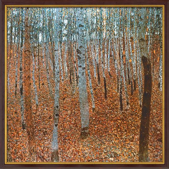 Gustav Klimt: Bild 'Buchenwald I' (1902), gerahmt
