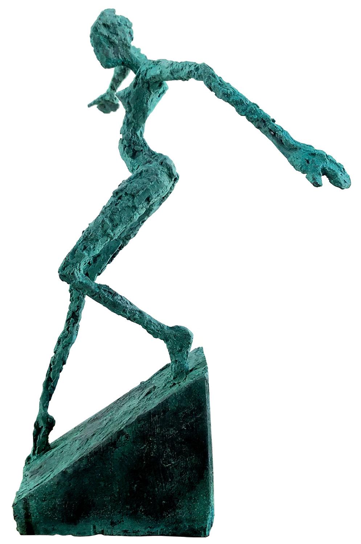 """Skulptur """"Auf leisen Sohlen"""" (2020), Bronze"""