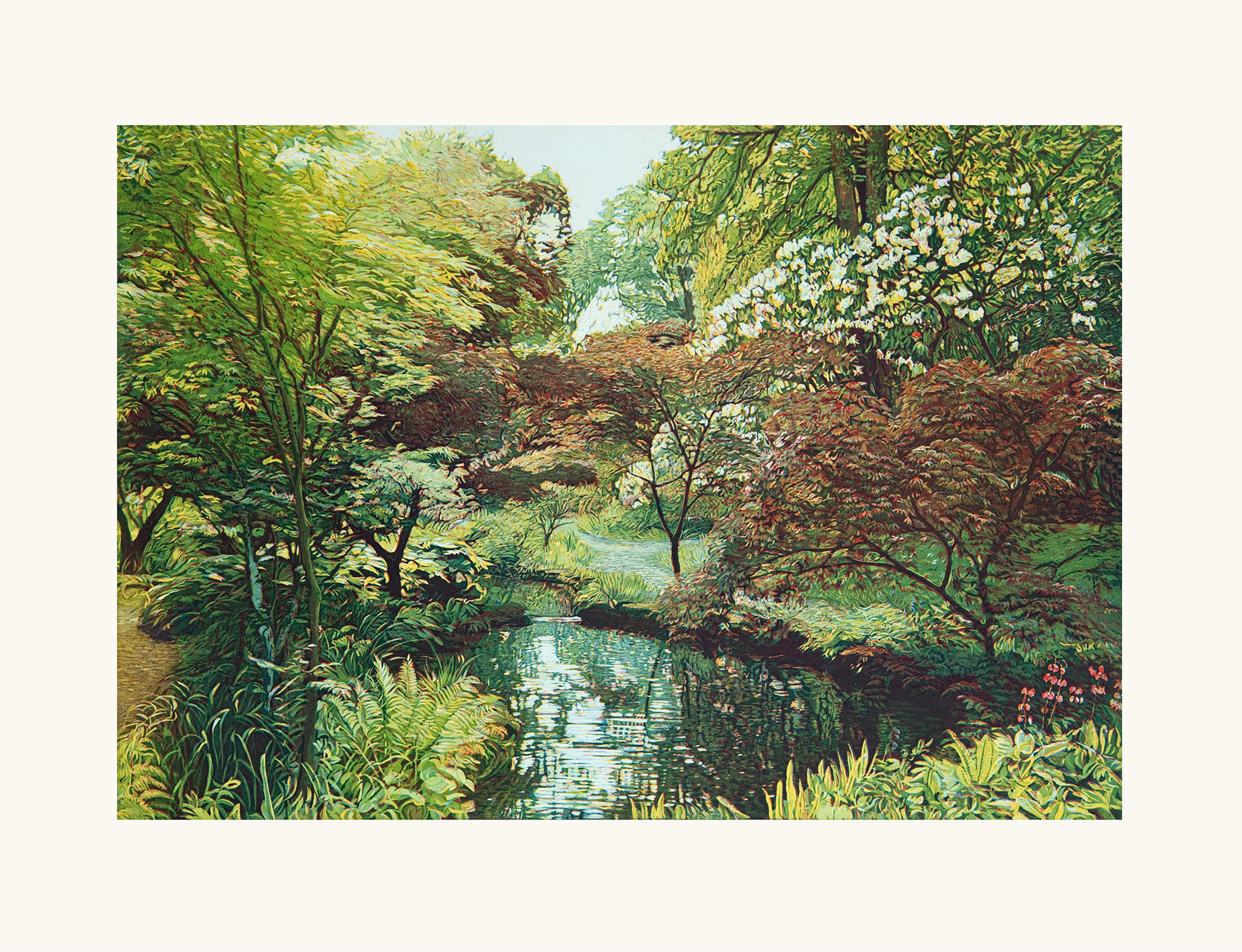 "Bild ""Japanischer Garten II"", ungerahmt"