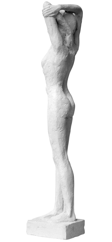 """Skulptur """"Entspannt"""" (2013), Steinguss"""