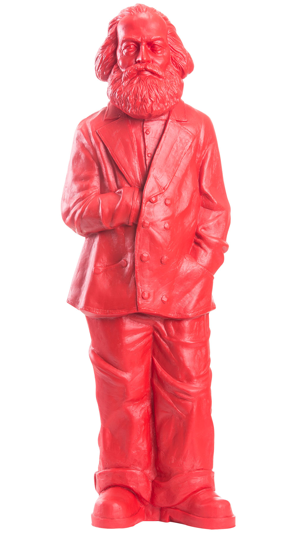 "Skulptur ""Karl Marx"", Version in Signalrot"