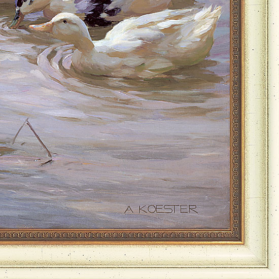 "Bild ""Enten am Seeufer"", gerahmt"