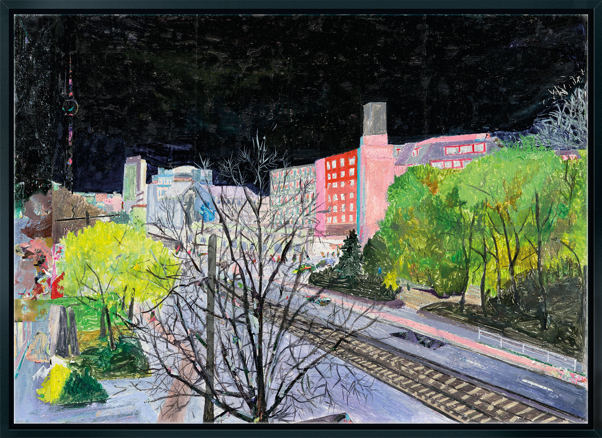 """Bild """"Herbst vorm Balkon"""" (2013), gerahmt"""