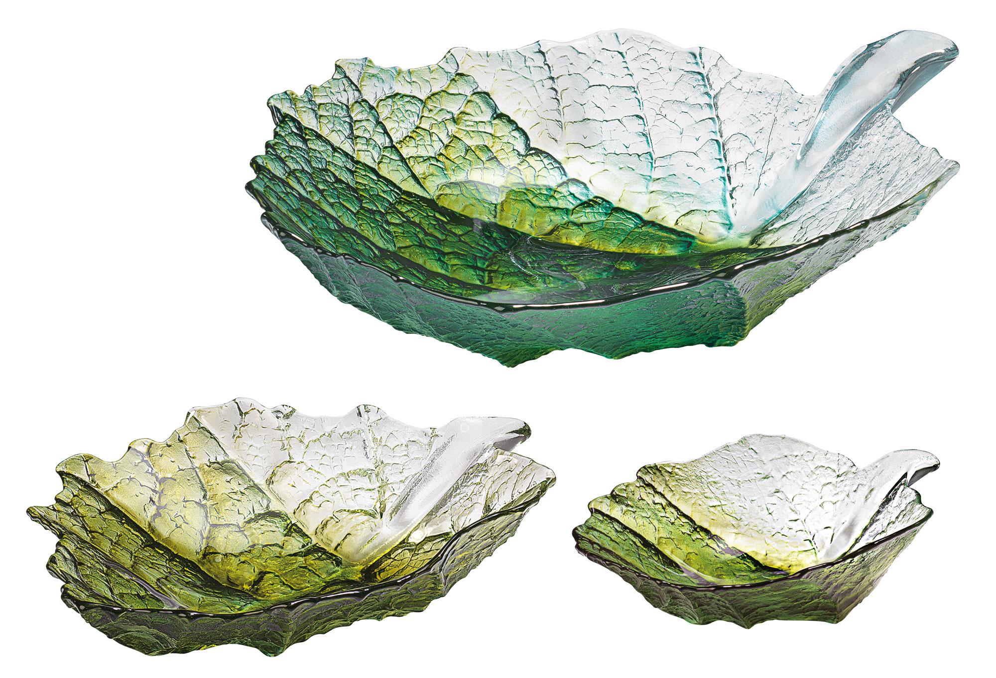"3 Glasschalen ""Ahornblatt"" im Set"