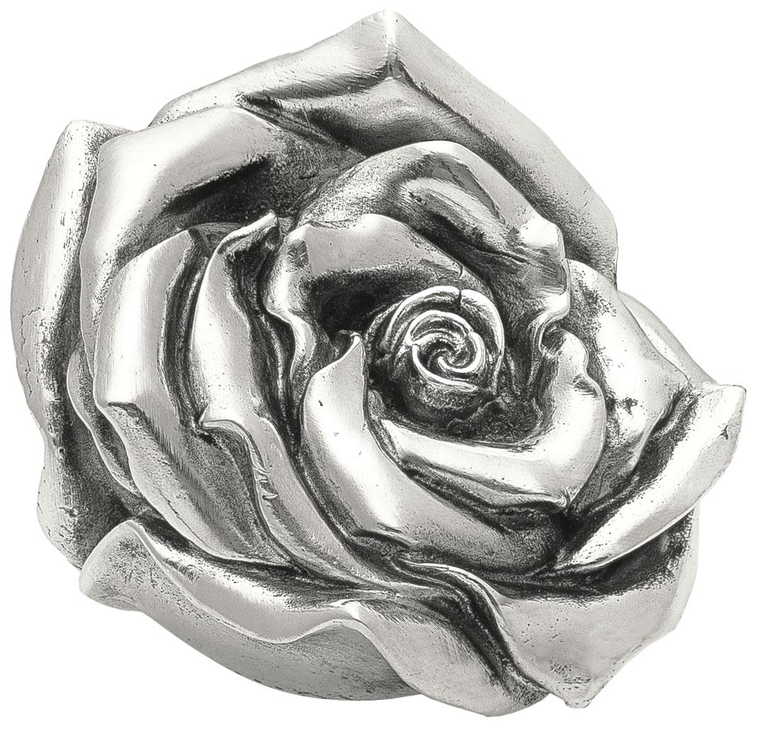 """Skulptur """"Rose"""" (2012), Version versilbert"""