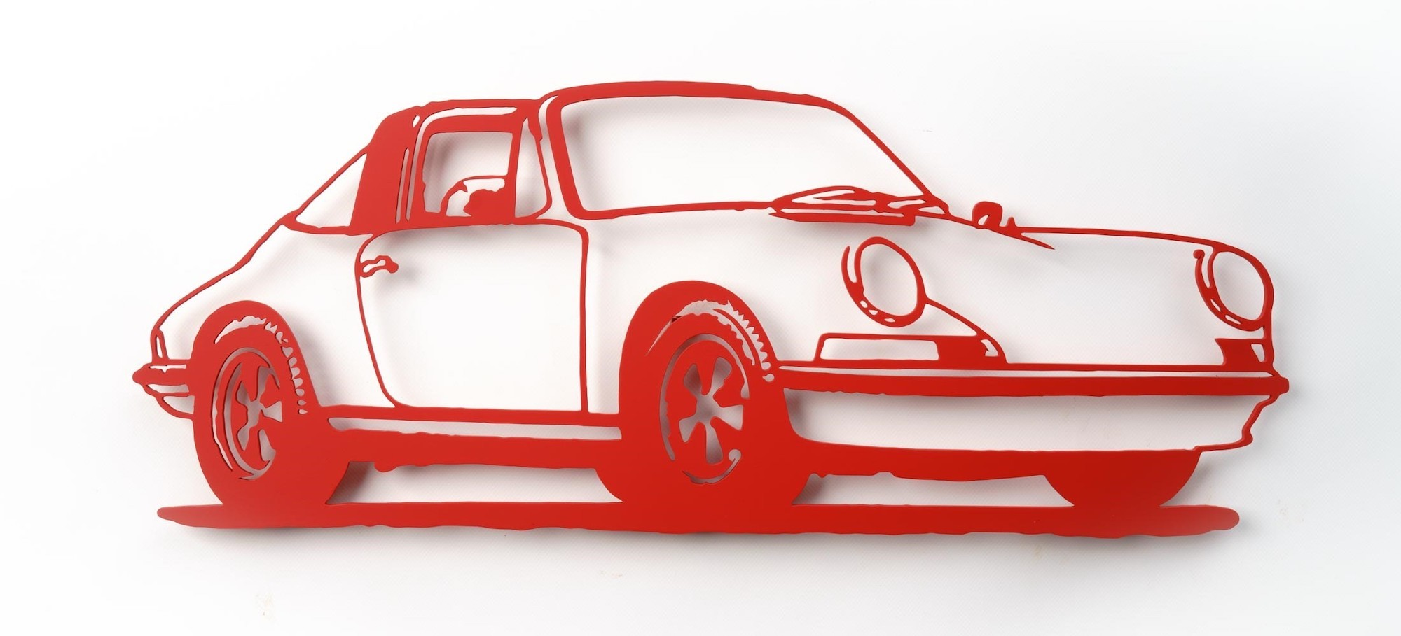 "Wandobjekt ""Porsche 911 Targa (rot)"" (2021) (Unikat)"