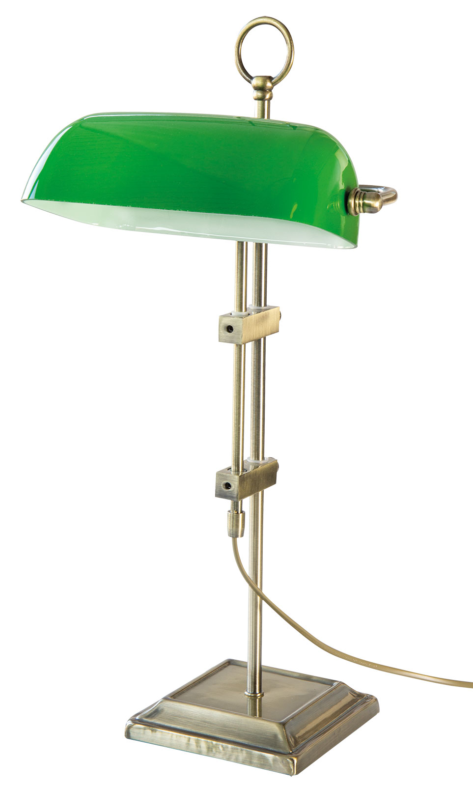 """Jugendstil-Leuchte / Bankers Lamp """"Emeralite"""""""