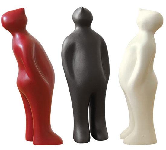 "3 Keramikfiguren ""The Visitor"" (Mini-Version, Höhe 18,5 cm) im Set"