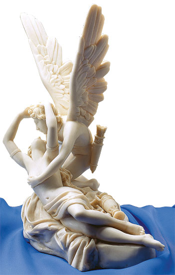 "Skulptur ""Amor und Psyche"" (1793), Reduktion in Kunstmarmor"