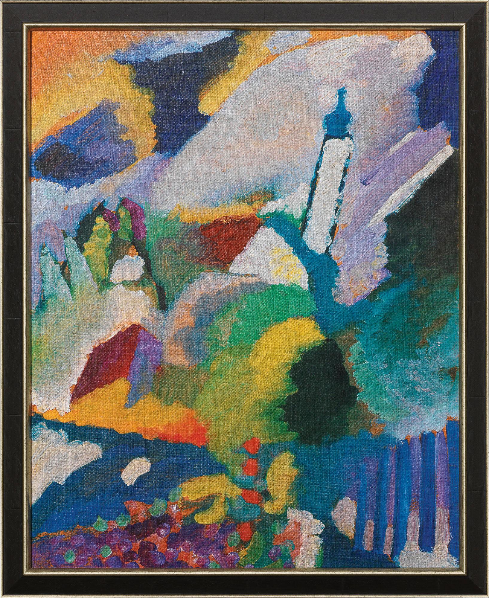 """Bild """"Kirche in Murnau"""" (1910), gerahmt"""