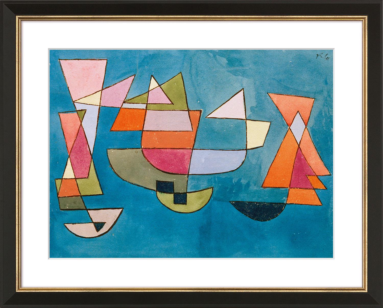 """Bild """"Segelschiffe"""" (1927), gerahmt"""