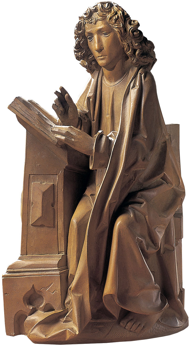 "Skulptur ""Evangelist Johannes"" (Reduktion), Kunstguss"