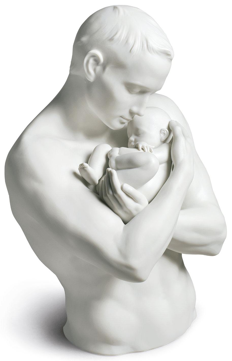 """Porzellanskulptur """"Väterlicher Stolz"""""""
