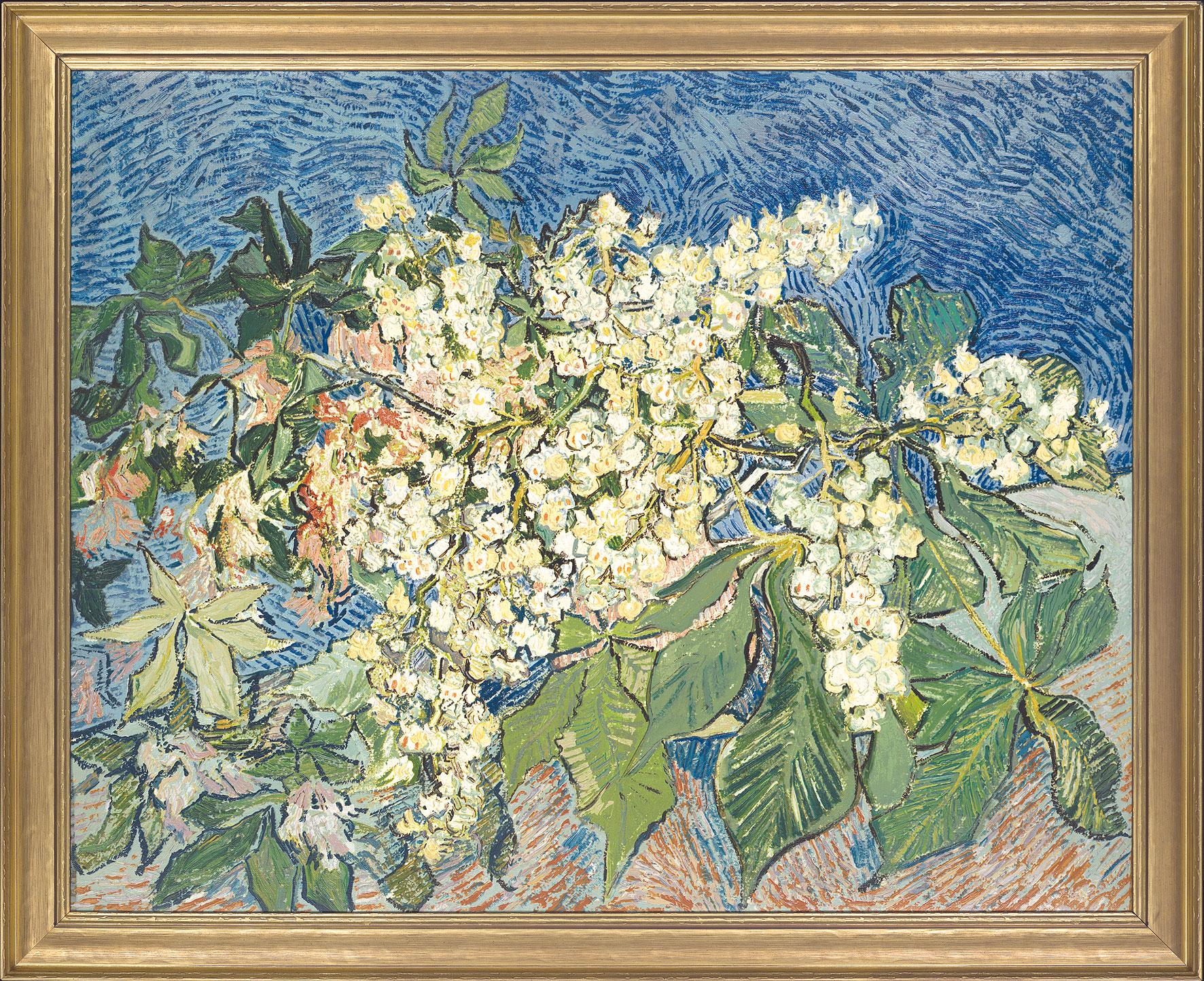 Vincent van Gogh: Bild 'Blühender Kastanienzweig', gerahmt