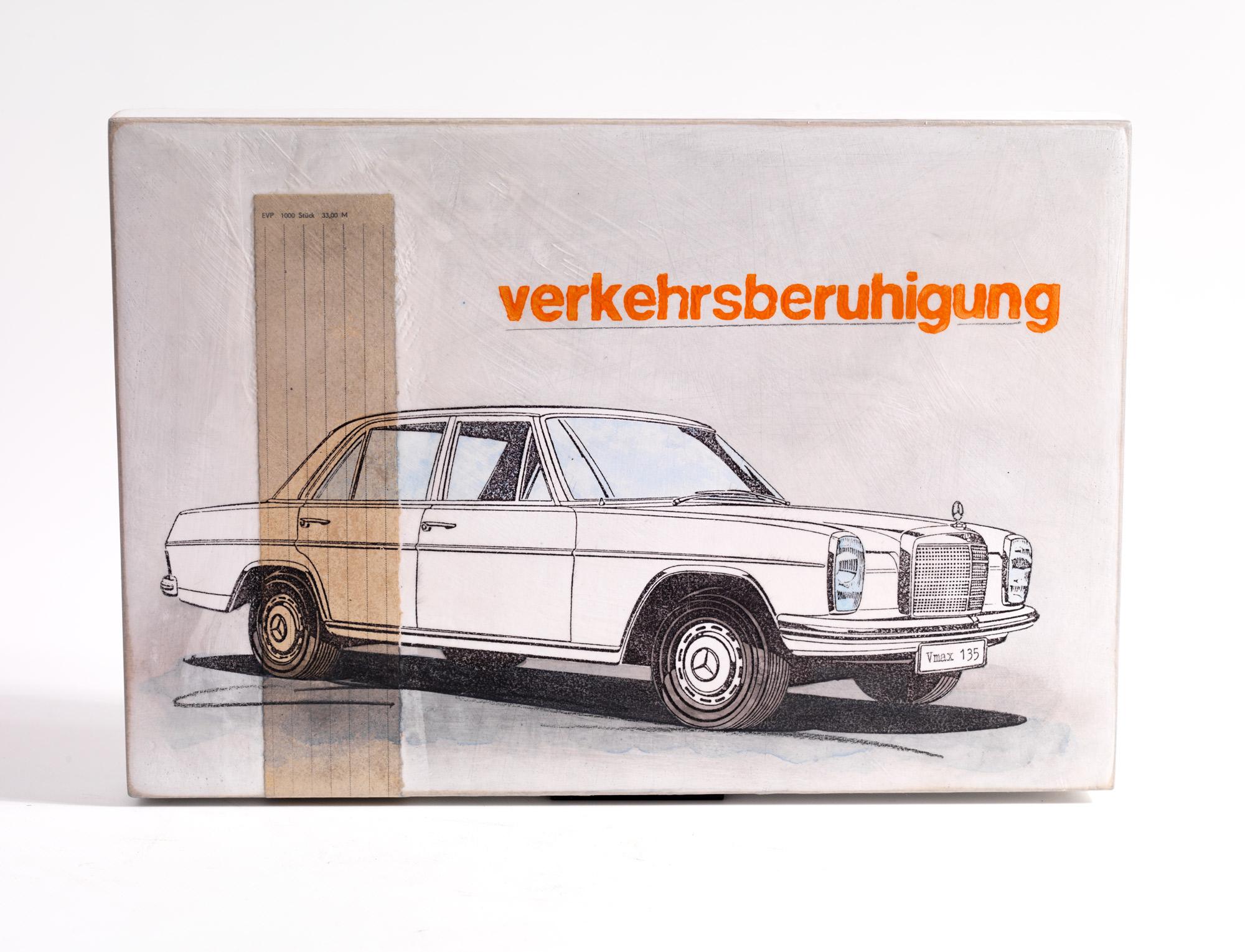 "Wandobjekt ""Verkehrsberuhigung"" (2021) (Unikat)"