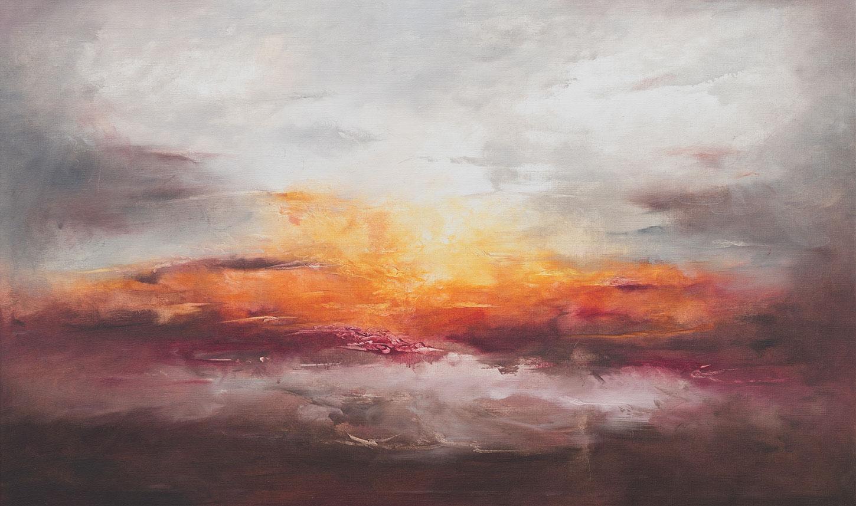 "Bild ""Hazy Wings of Dawn"" (Original / Unikat), auf Keilrahmen"