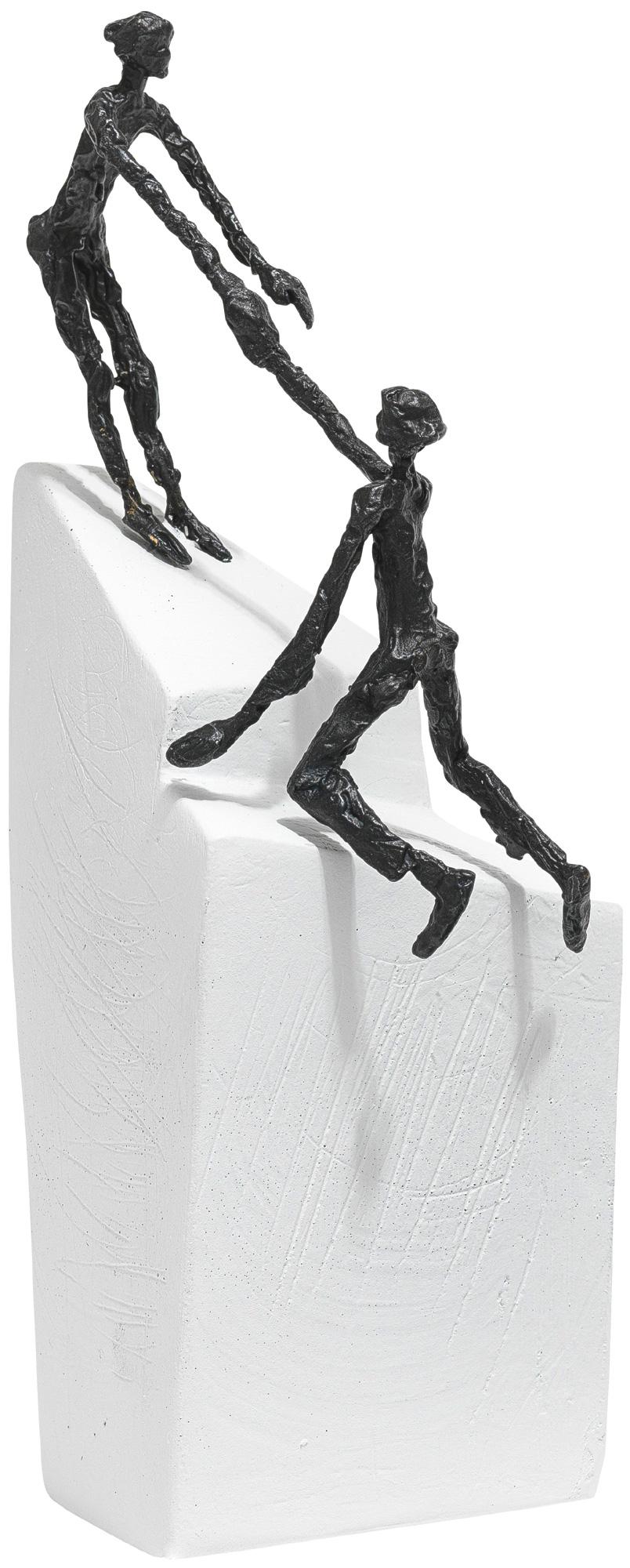 """Skulptur """"Zu zweit geht's III"""", Bronze auf Steinguss"""