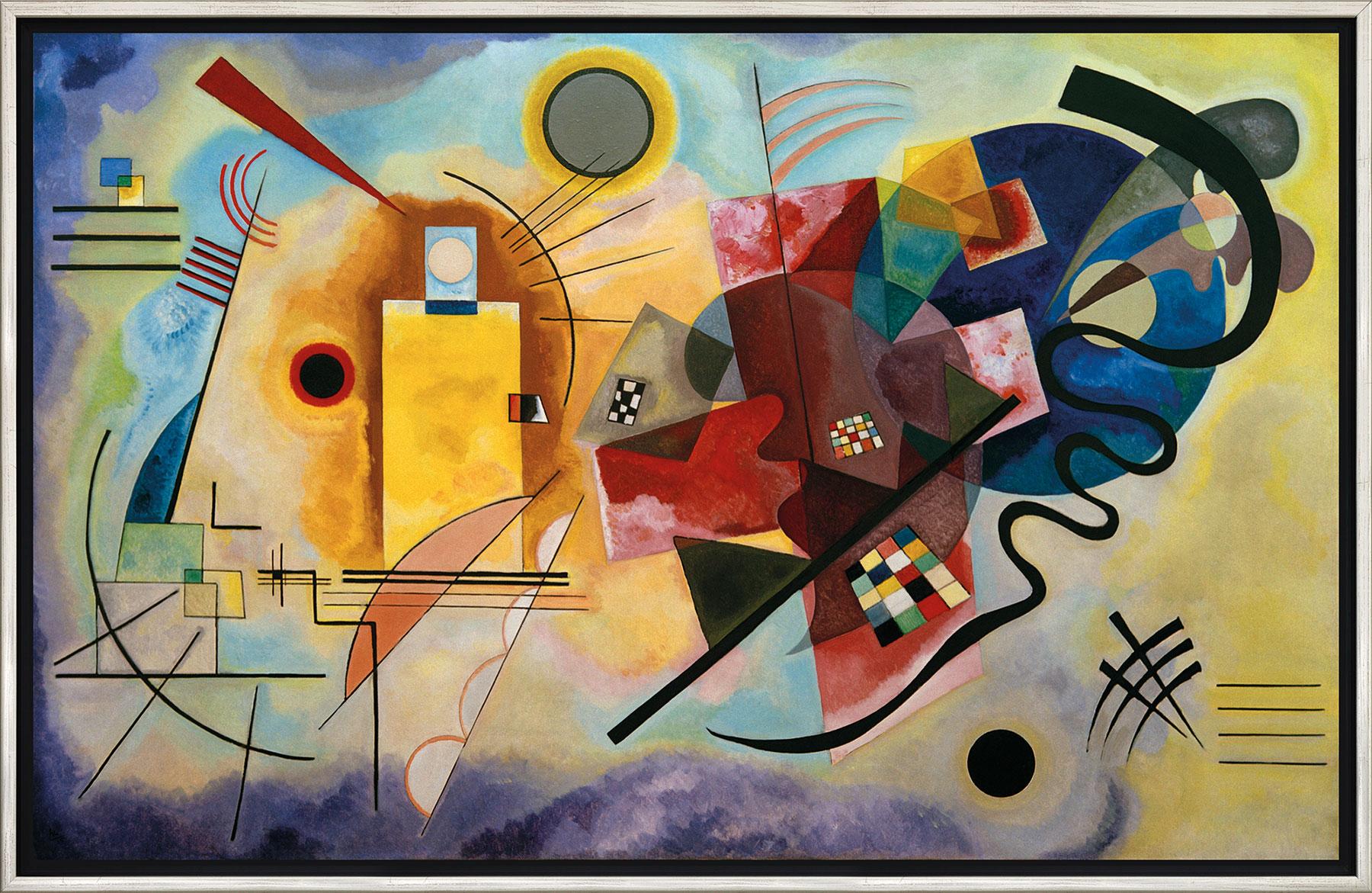 "Bild ""Gelb - Rot - Blau"" (1925), gerahmt"