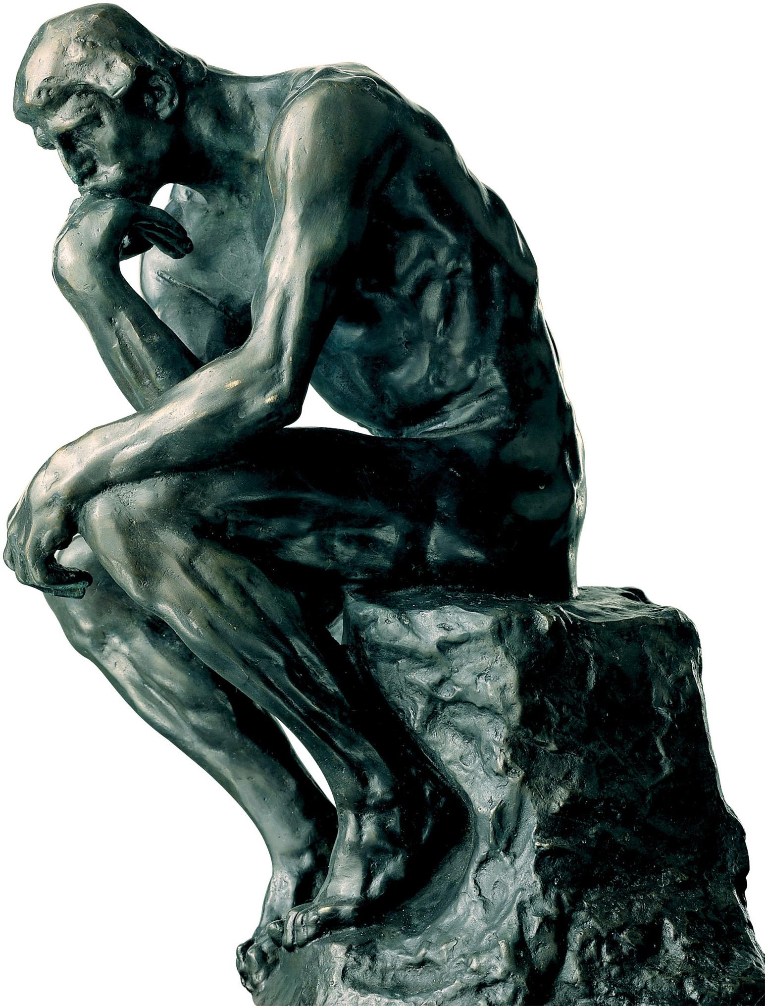 """Skulptur """"Der Denker"""" (26 cm), Kunstbronze"""