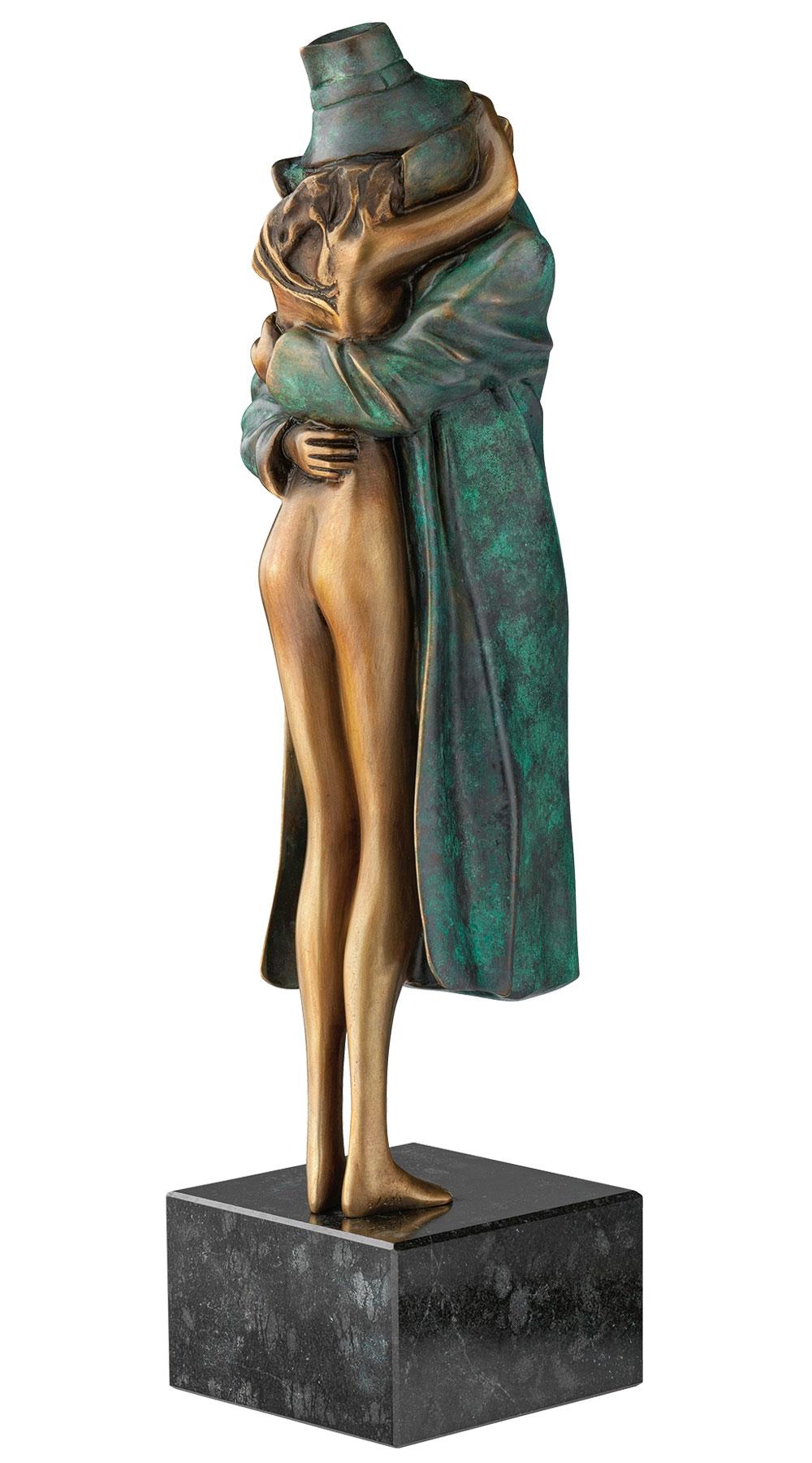 Bruno Bruni: Skulptur 'Amore', Version Bronze grün