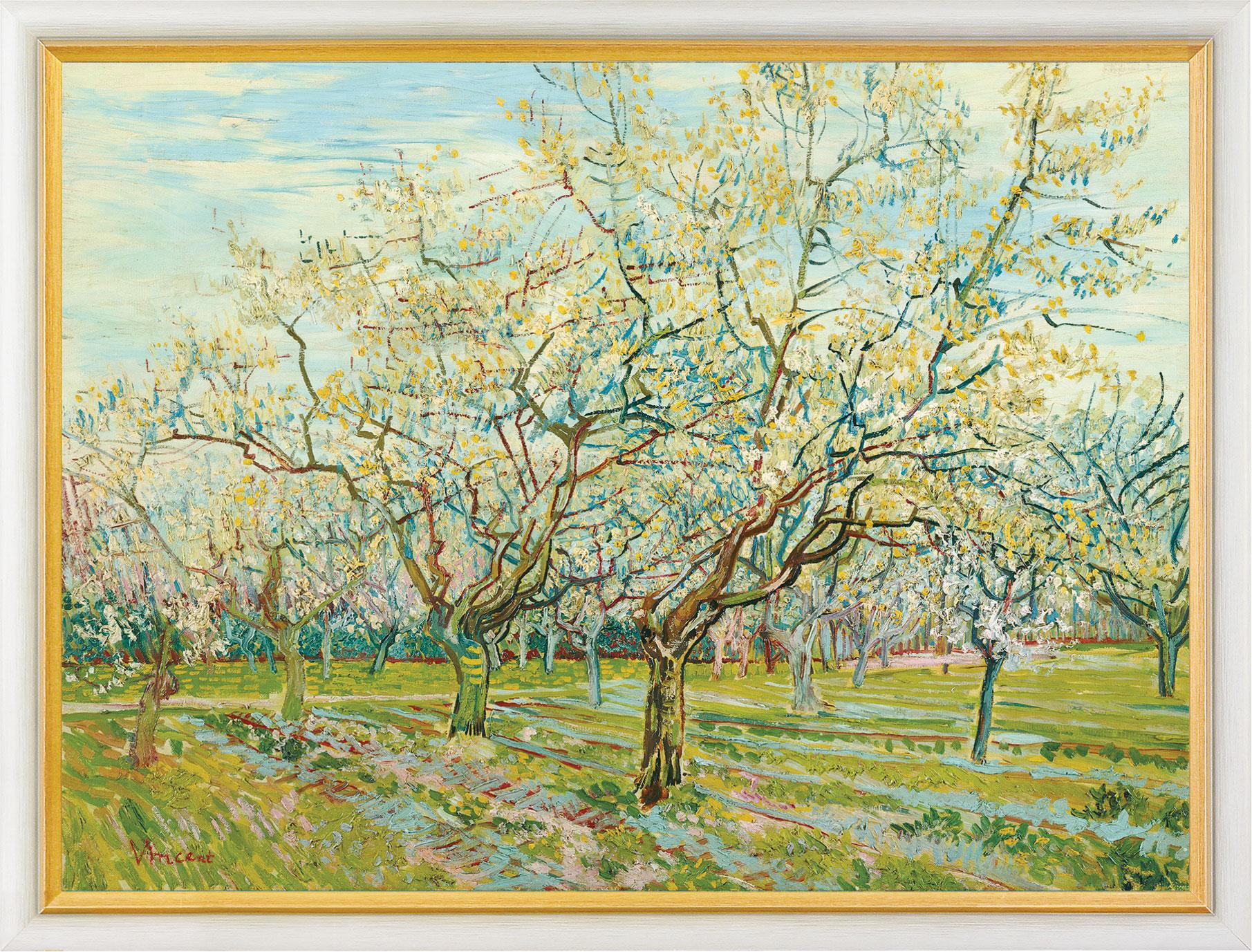 """Bild """"Der weiße Obstgarten"""", gerahmt"""