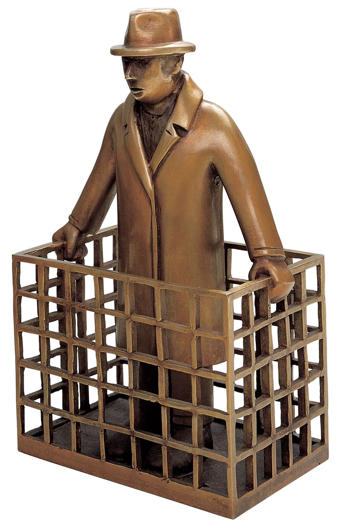 """Skulptur """"Parzelle"""", Bronze"""