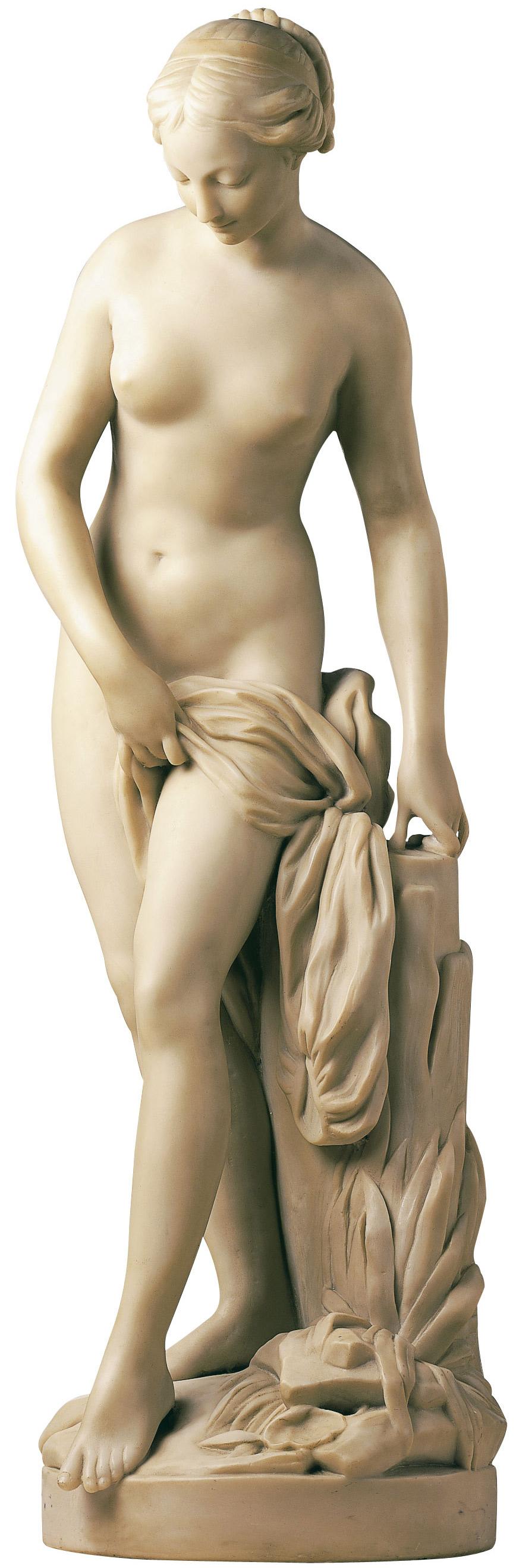 "Skulptur ""Badende"" (Reduktion), Kunstmarmor"