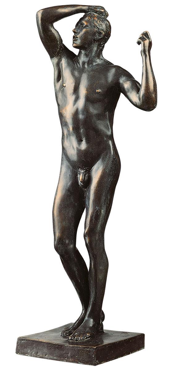 "Skulptur ""Das eherne Zeitalter"" (1876), große Version in Bronze"