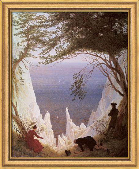 "Bild ""Kreidefelsen auf Rügen"" (1818), gerahmt"