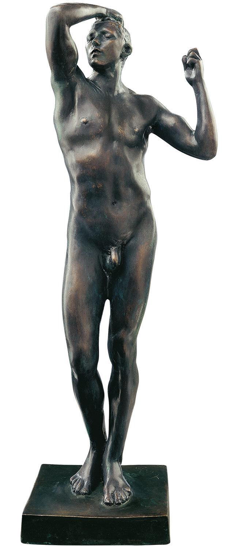 """Skulptur """"Das eherne Zeitalter"""" (1876), kleine Version in Bronze"""