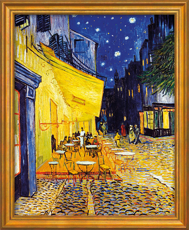 """Bild """"Café-Terrasse am Abend in Arles"""" (1888), gerahmt"""