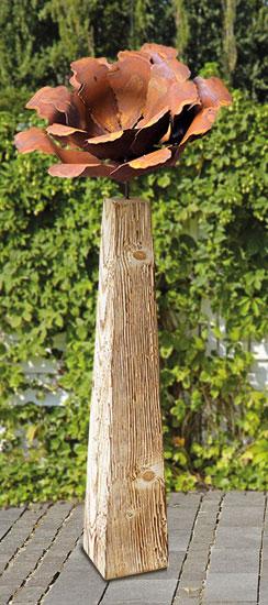"Gartenstele ""Kamelienblüte"" (groß, Höhe 113 cm)"