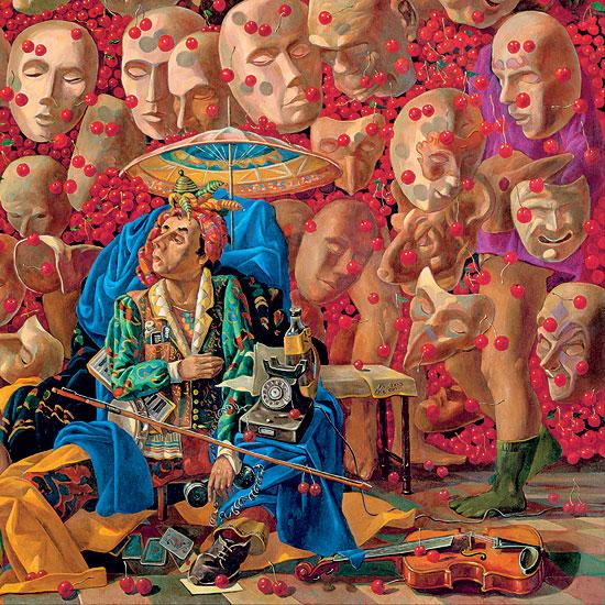 """Bild """"Die neuen Kirschen"""" (2008), auf Keilrahmen"""