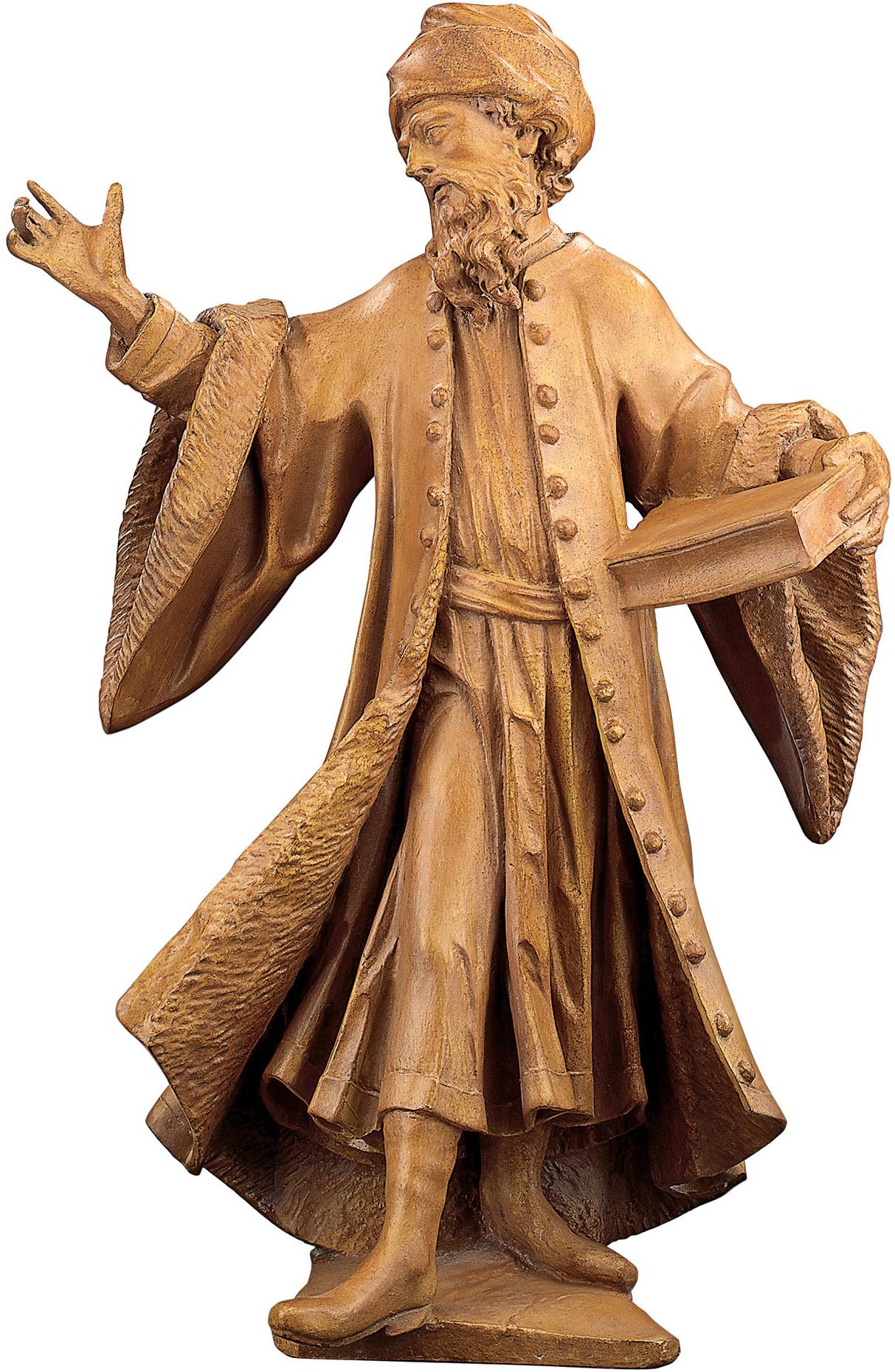 "Skulptur ""Damian"", Kunstguss Holzfinish"