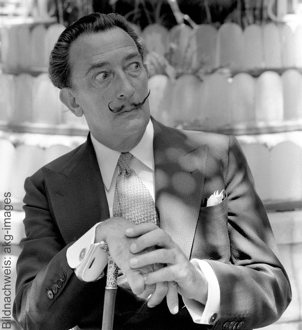 Porträt des Künstlers Salvador Dalí