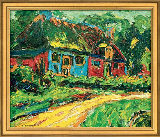 """Bild """"Altes Haus auf Fehmarn"""" (1908), gerahmt"""