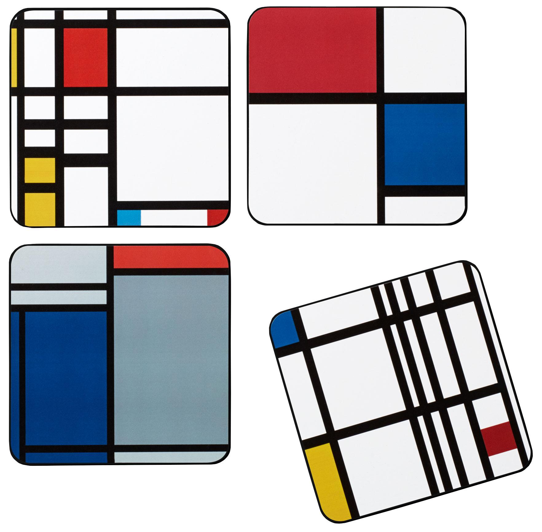 "Kork-Untersetzer ""Mondrian"", 4er-Set - MoMA Kollektion"