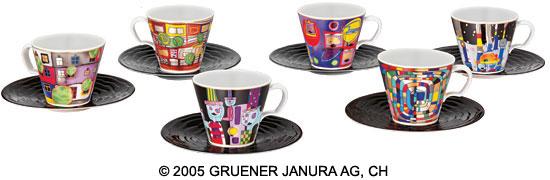 """12-teiliges """"Hommage à Hundertwasser - Die universalen Sechs""""-Sammlerset"""