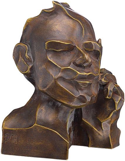 """Skulptur """"Der Denker"""", Version in Kunstbronze"""