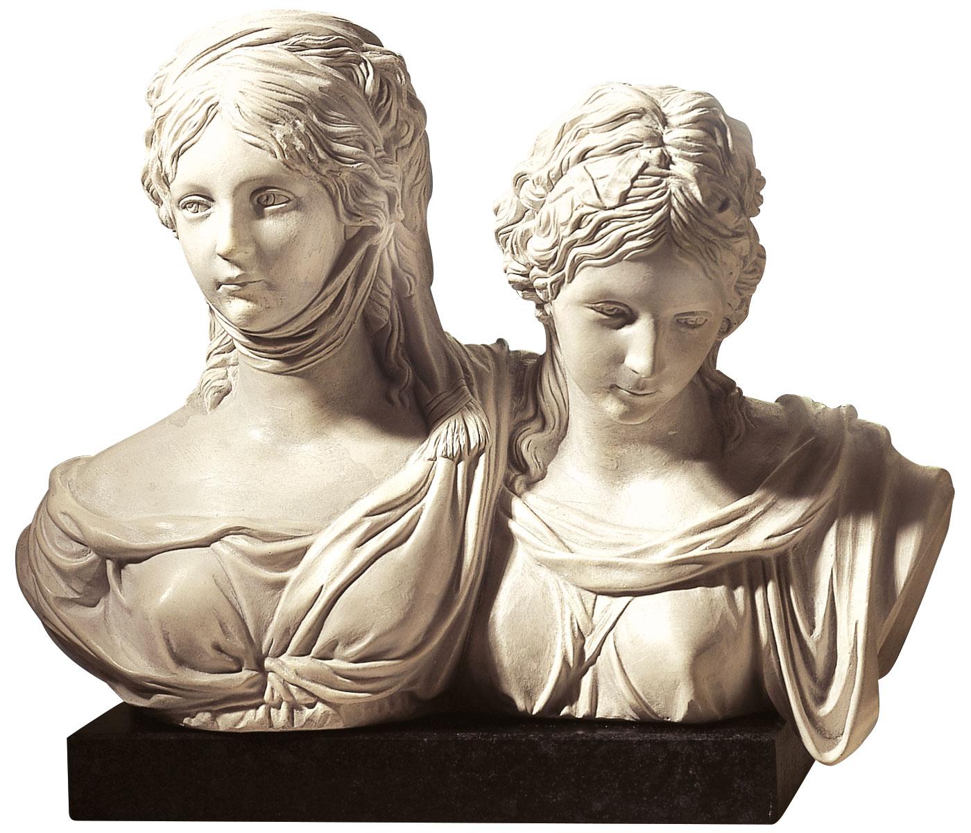 "Büste ""Luise und Friederike"", Kunstmarmor"