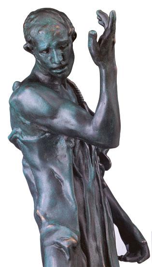 """Skulptur """"Pierre de Wissant"""", Version in Kunstguss"""