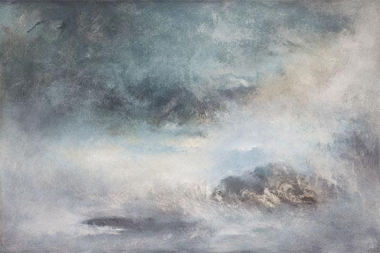"""Bild """"Blue shades of dawn"""" (2010), auf Keilrahmen"""