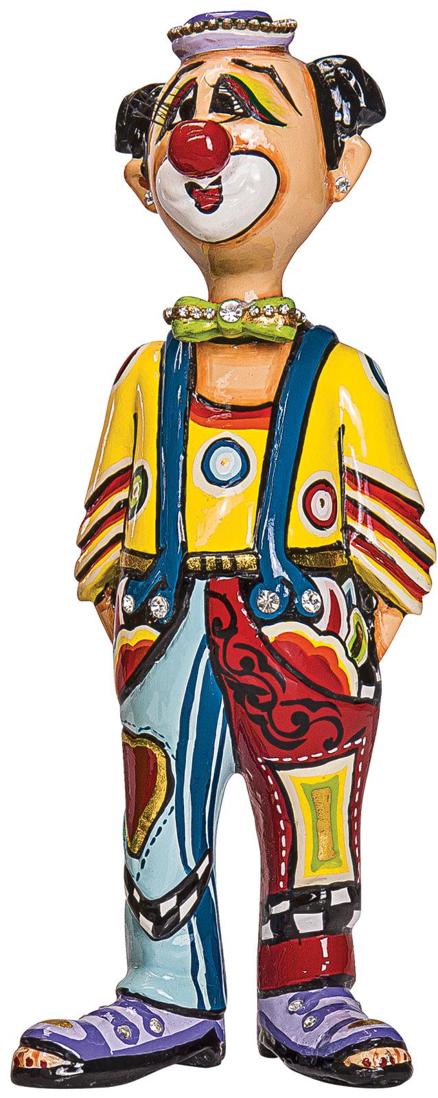 """Skulptur """"Clown Moretti"""", handbemalt"""