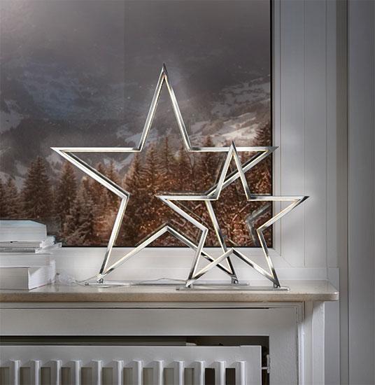 """LED-Lichtobjekt """"Stern"""" (groß, Ø 51,5 cm), Version Chrom"""