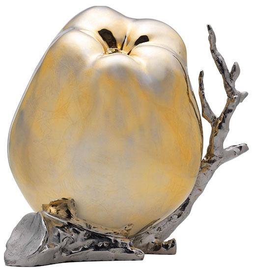 """Skulptur """"Right seeds"""" (2012), Edelstahl teilvergoldet"""