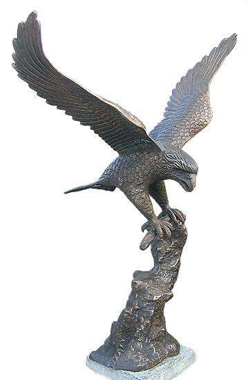 Gartenskulptur 'Adler', Bronze