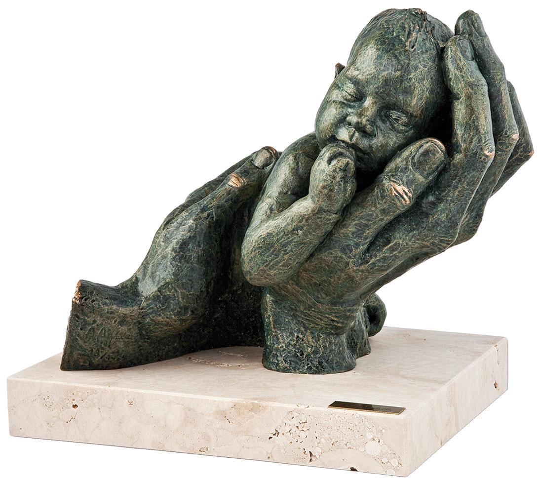 """Skulptur """"Erste Träume"""", Kunstguss Steinoptik"""